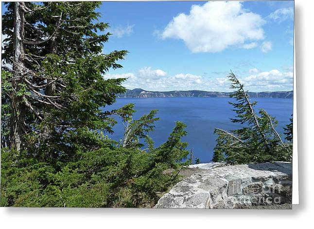Craters Greeting Cards - Crater Lake 3 Greeting Card by Methune Hively