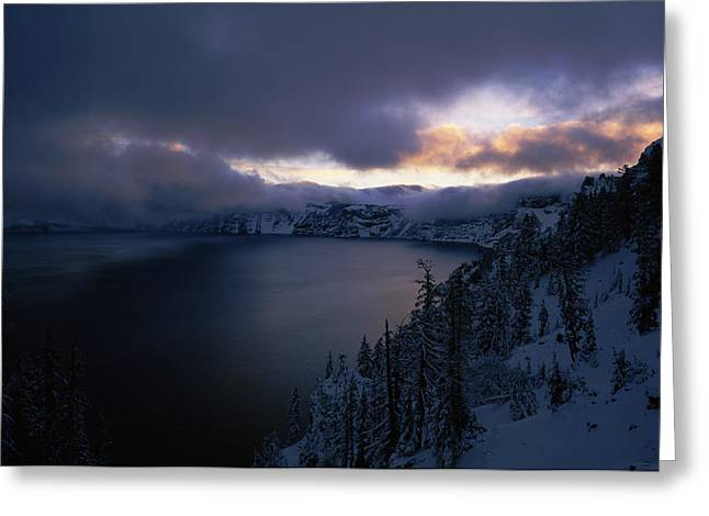 Crater Lake National Park Greeting Cards - Crater Lake At Sunrise, South Rim Greeting Card by Panoramic Images