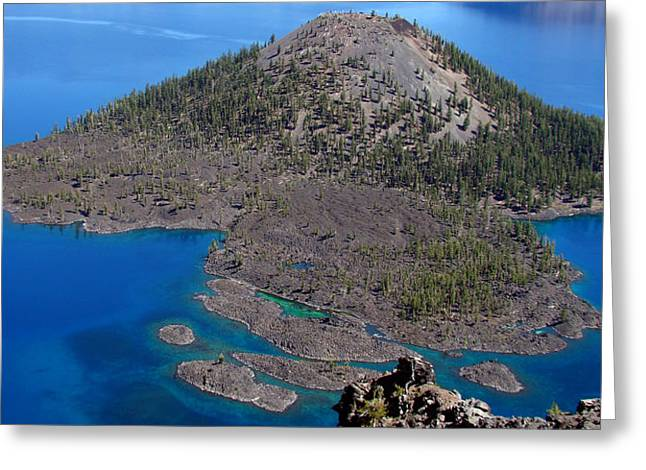 Crater Lake National Park Greeting Card by Qing Yang