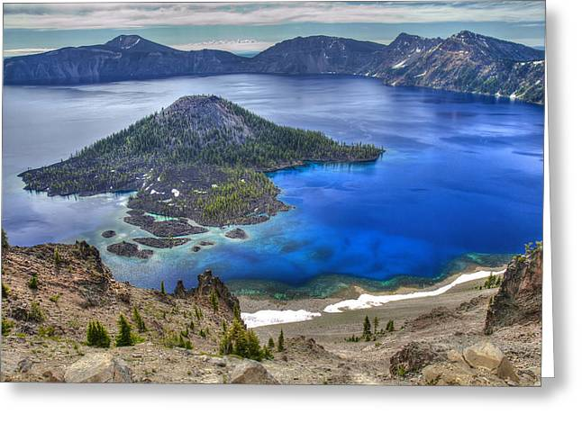 Favorite Color Blue Greeting Cards - Crater Lake Oregon Greeting Card by Pierre Leclerc Photography