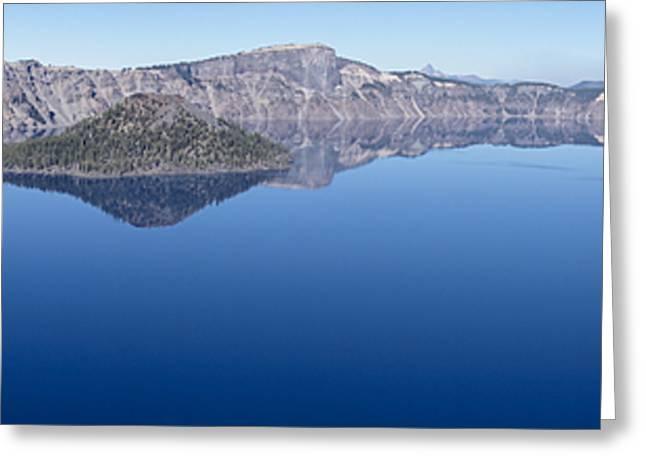 Crater Lake Panorama Greeting Card by Loree Johnson