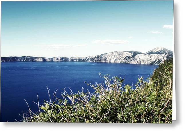Melanie Lankford Photography Greeting Cards - Crater Lake Sidelines Greeting Card by Melanie Lankford Photography