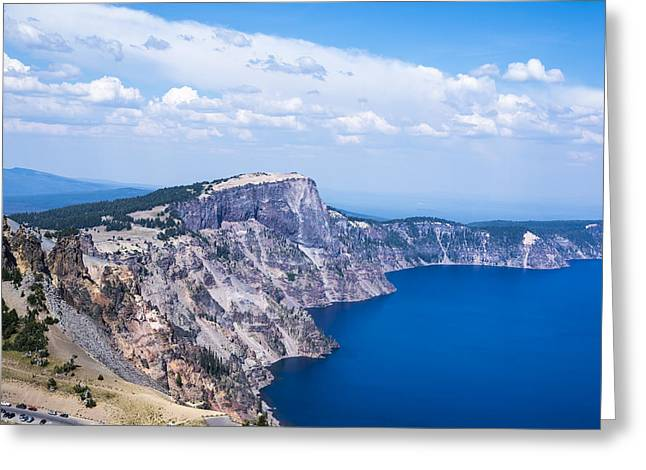 Crater Lake View Greeting Cards - Crater Rim Greeting Card by Joseph S Giacalone
