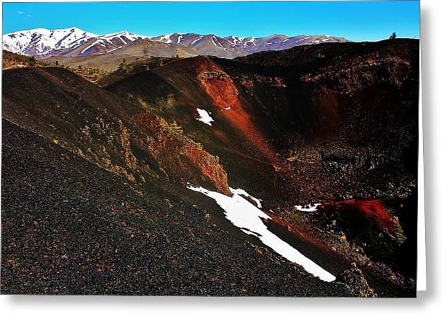 Craters of the Moon Greeting Card by Benjamin Yeager
