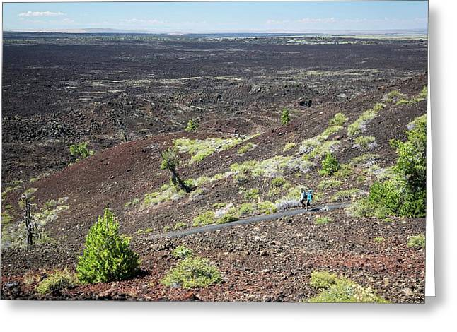Craters Of The Moon Landscape Greeting Card by Jim West