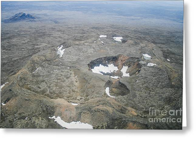 Coldly Greeting Cards - Craters Greeting Card by Patricia Hofmeester