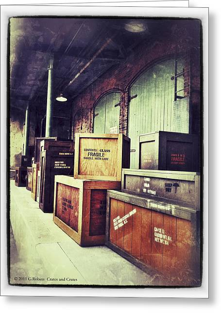 Crates And Crates Greeting Card by Gerry Robins