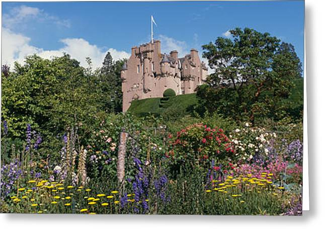 Public Garden Greeting Cards - Crathes Castle Scotland Greeting Card by Panoramic Images