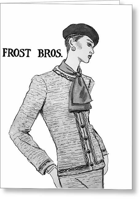 Tweed Suit Greeting Cards - Cravat Greeting Card by Sarah Parks