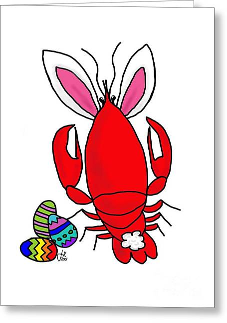 Lobster Greeting Cards - Crawfish Easter Bunny 20150223 Greeting Card by Julie Knapp