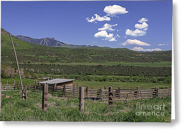 Sun Breaking Through Clouds Greeting Cards - Crawford Colorado Greeting Card by Janice Rae Pariza