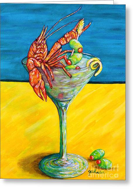 Crawfish Greeting Cards - Crawtini Greeting Card by JoAnn Wheeler