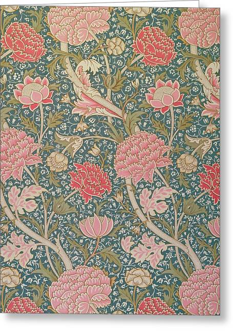 Textiles Tapestries - Textiles Greeting Cards - Cray Greeting Card by William Morris