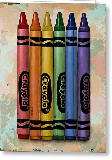 Pop Greeting Cards - Crayola Greeting Card by David Palmer