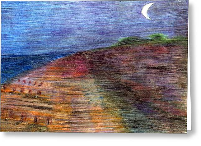 Vivid Colour Pastels Greeting Cards - Crayon Greeting Card by Wojtek Kowalski