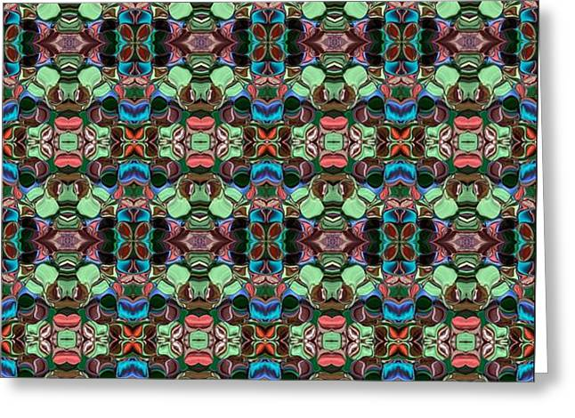 Abstract Digital Tapestries - Textiles Greeting Cards - CrazieArt Designs by Thia - Fabia Greeting Card by Thia Stover