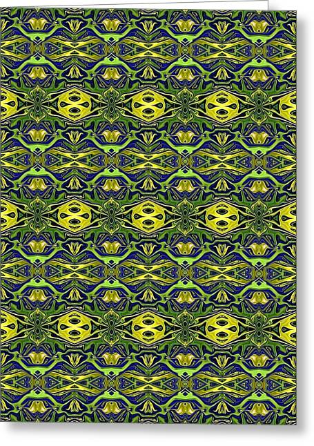 Abstract Digital Tapestries - Textiles Greeting Cards - CrazieArt Designs - e Greeting Card by Thia Stover