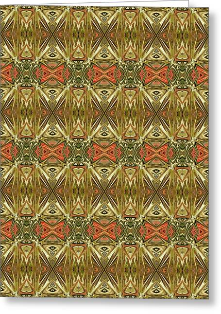 Abstract Digital Tapestries - Textiles Greeting Cards - CrazieArt Designs by Thia - Kiana Greeting Card by Thia Stover