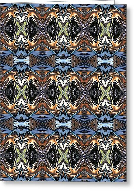 Abstract Digital Tapestries - Textiles Greeting Cards - CrazieArt Designs by Thia - Lalia Greeting Card by Thia Stover