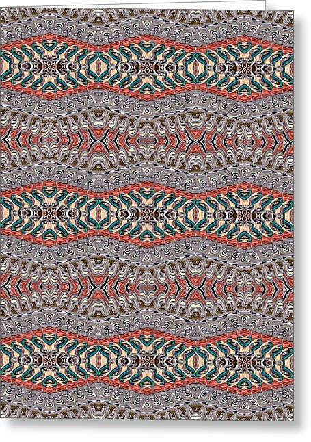 Abstract Digital Tapestries - Textiles Greeting Cards - CrazieArt Designs by Thia - Nessa Greeting Card by Thia Stover