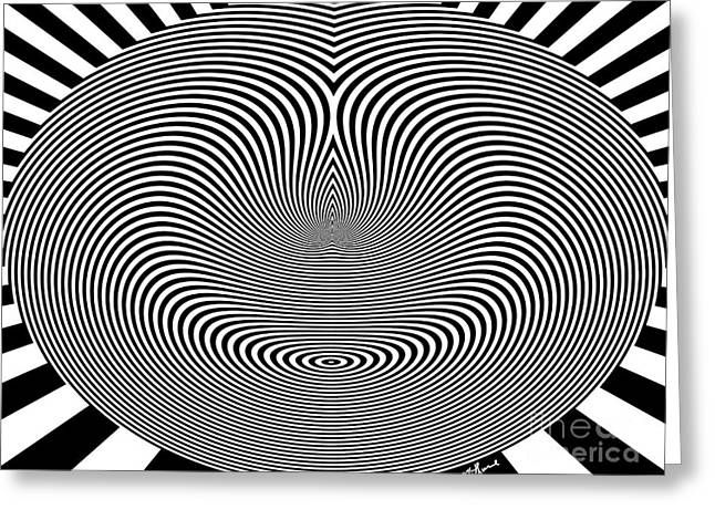 Crazy Circles Greeting Card by Methune Hively