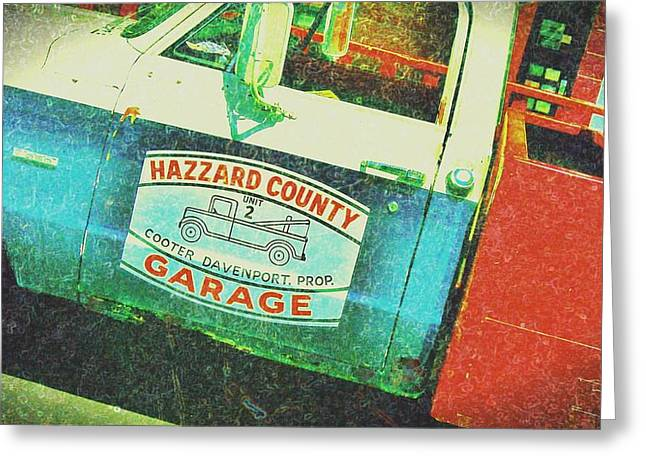 Hazzard County Greeting Cards - Crazy Cooters Rusty old tow truck Greeting Card by Jennifer McGuire