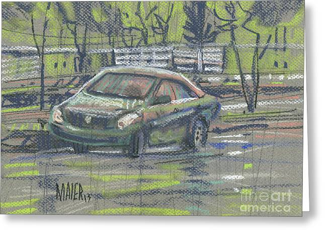 Car Park Greeting Cards - Crazy Eyes Greeting Card by Donald Maier
