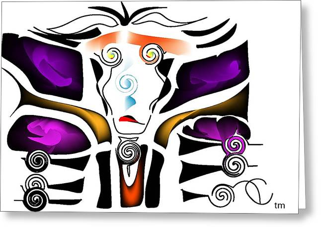 Evening Wear Digital Art Greeting Cards - Crazy Girl Couture Evening Wear Greeting Card by Andy Cordan