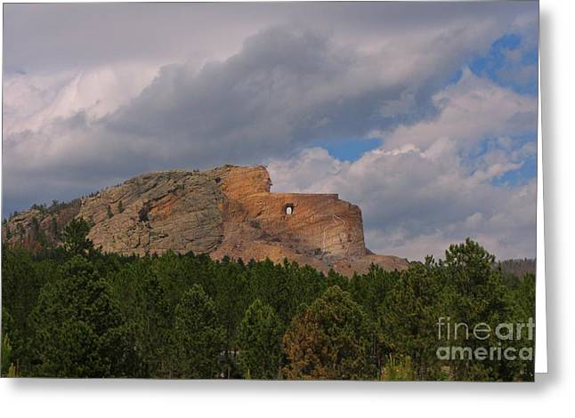 Crazy Horse At Thunder Mountain Greeting Card by Crazy Horse in Progress