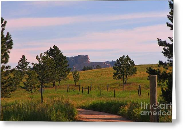 Crazy Horse In The Distance Greeting Card by John Malone