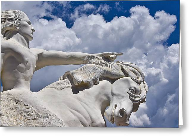 Crazy Horse Photographs Greeting Cards - Crazy Horse Greeting Card by Skip Hunt