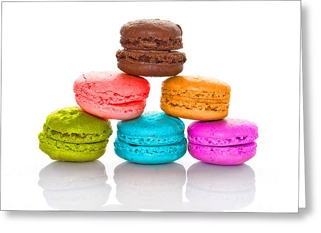 Coloured Greeting Cards - Crazy macarons 2 Greeting Card by Delphimages Photo Creations