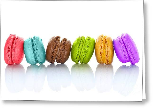 Crazy Macarons Horizontal Greeting Card by Delphimages Photo Creations