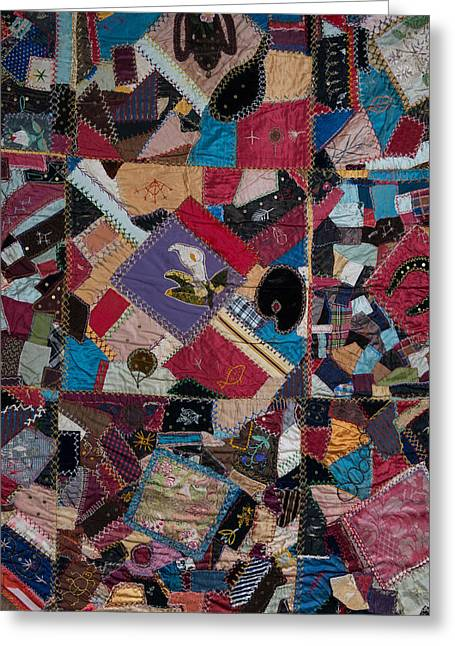 Crazy Quilt Greeting Cards - Crazy Quilt Greeting Card by Izabella West