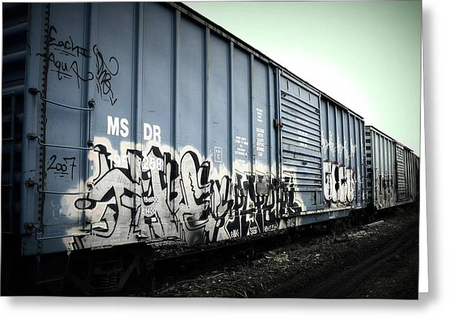Amanda St Germain Greeting Cards - Crazy Train Greeting Card by Amanda St Germain