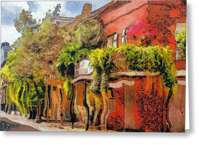 Alleys Greeting Cards - Crazy Whimsy Wacky New Orleans Greeting Card by Christine Till