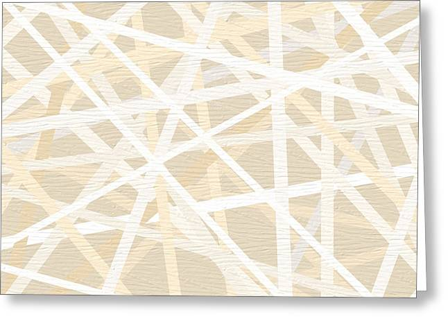 Beige Abstract Greeting Cards - Cream And Tan Art Greeting Card by Lourry Legarde