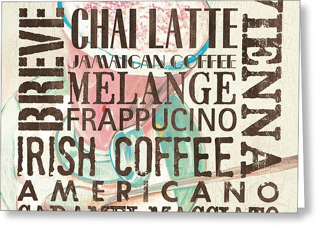 Cream Coffee Of The Day 1 Greeting Card by Debbie DeWitt