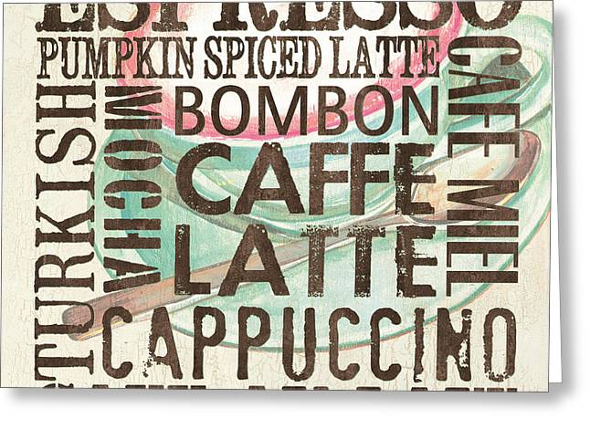 Espresso Art Greeting Cards - Cream Coffee of the Day 2 Greeting Card by Debbie DeWitt
