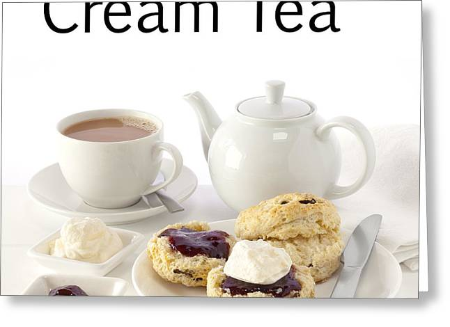 Customizable Greeting Cards - Cream Tea Greeting Card by Colin and Linda McKie