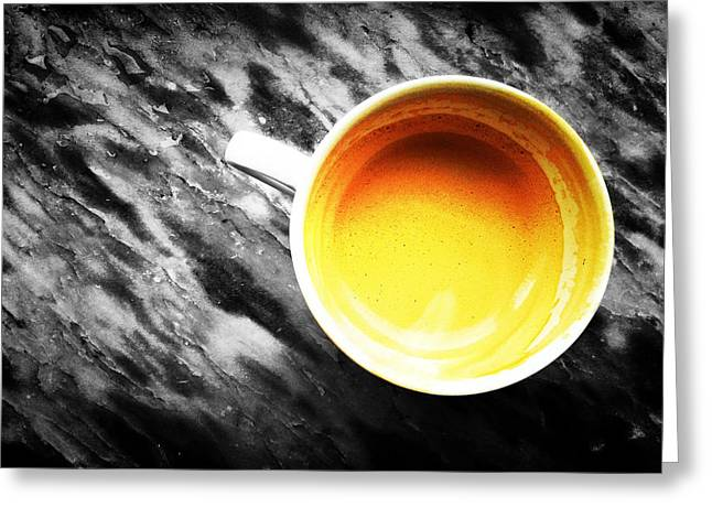 Marble Stone Greeting Cards - Creamy Coffee Greeting Card by Marco Oliveira