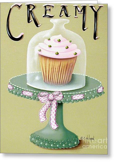 Frosting Greeting Cards - Creamy Cupcake Greeting Card by Catherine Holman