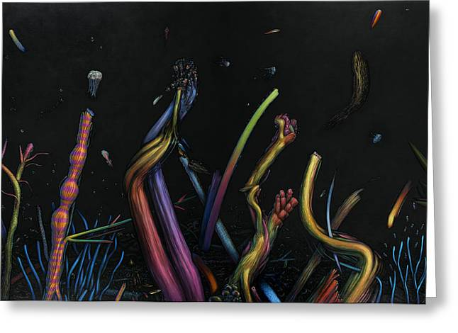Reef Fish Paintings Greeting Cards - Creation Greeting Card by James W Johnson