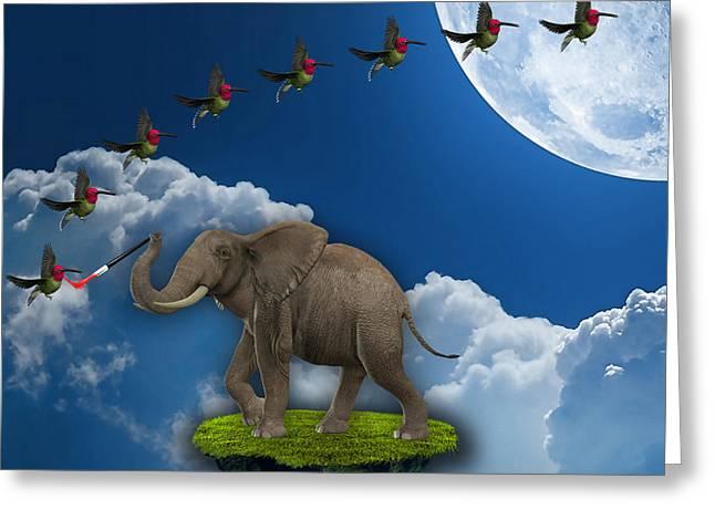Creation Greeting Card by Marvin Blaine