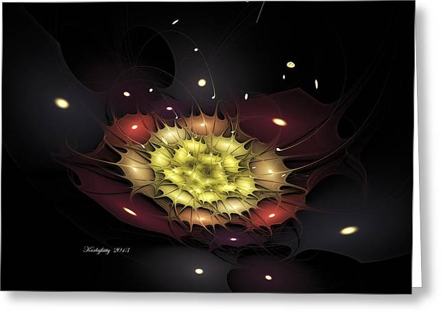 Karlajkitty Digital Greeting Cards - Creative Energy Greeting Card by Karla White