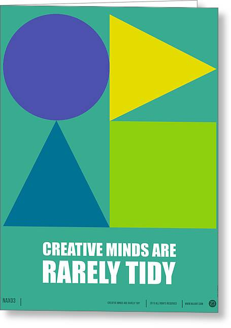Humor Greeting Cards - Creative Minds Poster Greeting Card by Naxart Studio