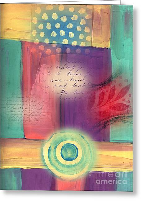 Yellow Chakra Greeting Cards - Creative Thinking Chakra Greeting Card by Elaine Jackson
