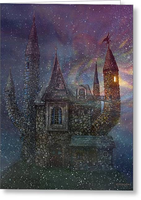 Creativity Castle Greeting Card by Frank Robert Dixon
