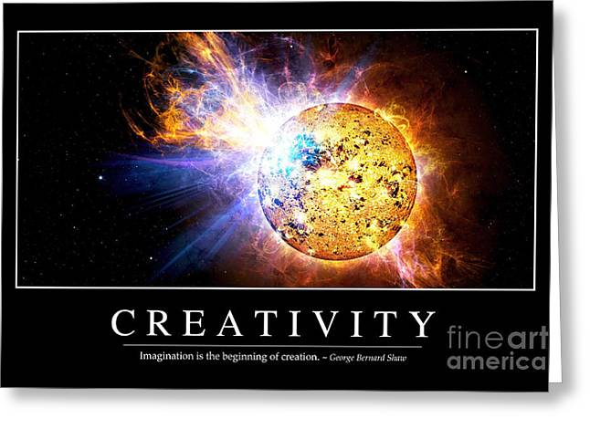 Ev Greeting Cards - Creativity Inspirational Quote Greeting Card by Stocktrek Images