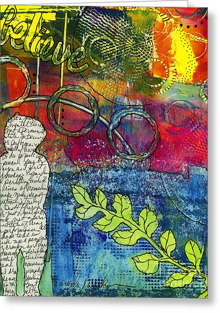 Survivor Art Greeting Cards - CREATIVITY is the Best Therapy Greeting Card by Angela L Walker